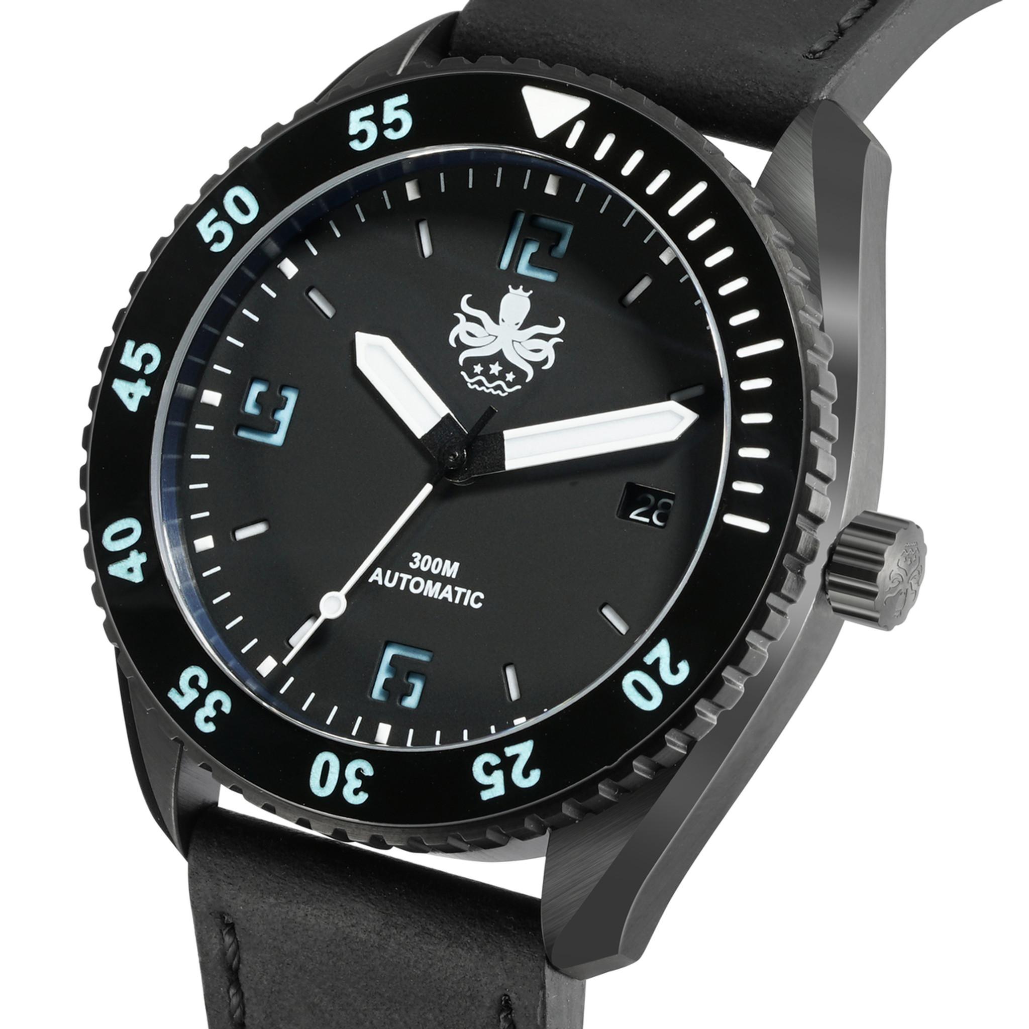 399cf0ba1e4 PHOIBOS REEF MASTER PY015C DLC 300M Automatic Diver Watch Black