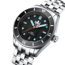 PHOIBOS WAVE MASTER PY010C 300M Automatic Dive Watch Black