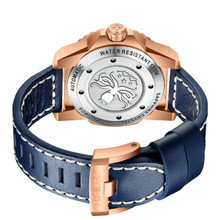 PHOIBOS LEVIATHAN BRONZE PY027B 500M Automatic Diver Watch Blue Limited Edition