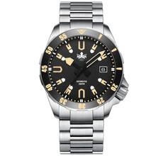 PHOIBOS APOLLO TITANIUM PY031D 200M Automatic Diver Watch Black&Gold
