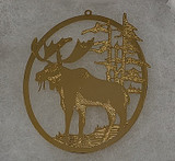 Gold Moose Ornament