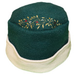 Women's Wool Hat - Green and Cream