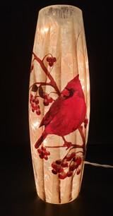 Tall Cardinal Glass Vase BTC 0209