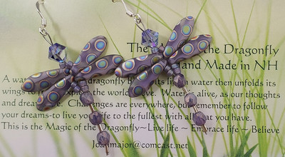 Spotted Dragonfly Earrings