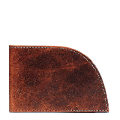 Front Pocket Wallet in Brown Moose Leather