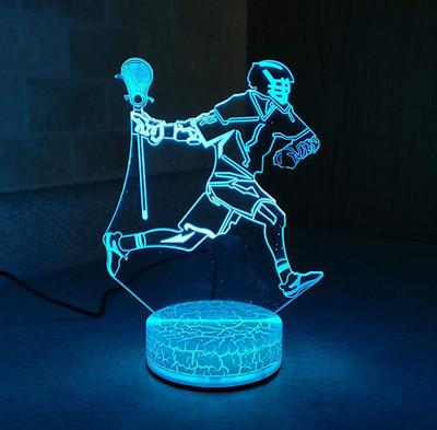 Lacrosse Player Night Light
