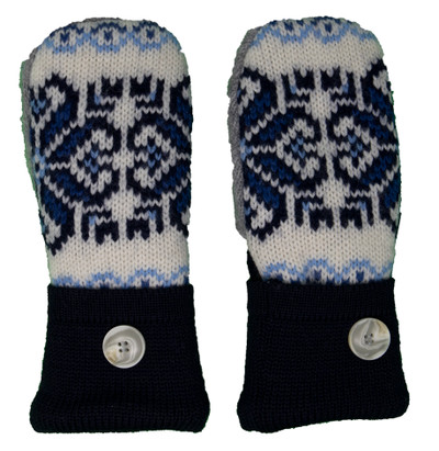 Women's Wool Mittens - BGC1 Top Side
