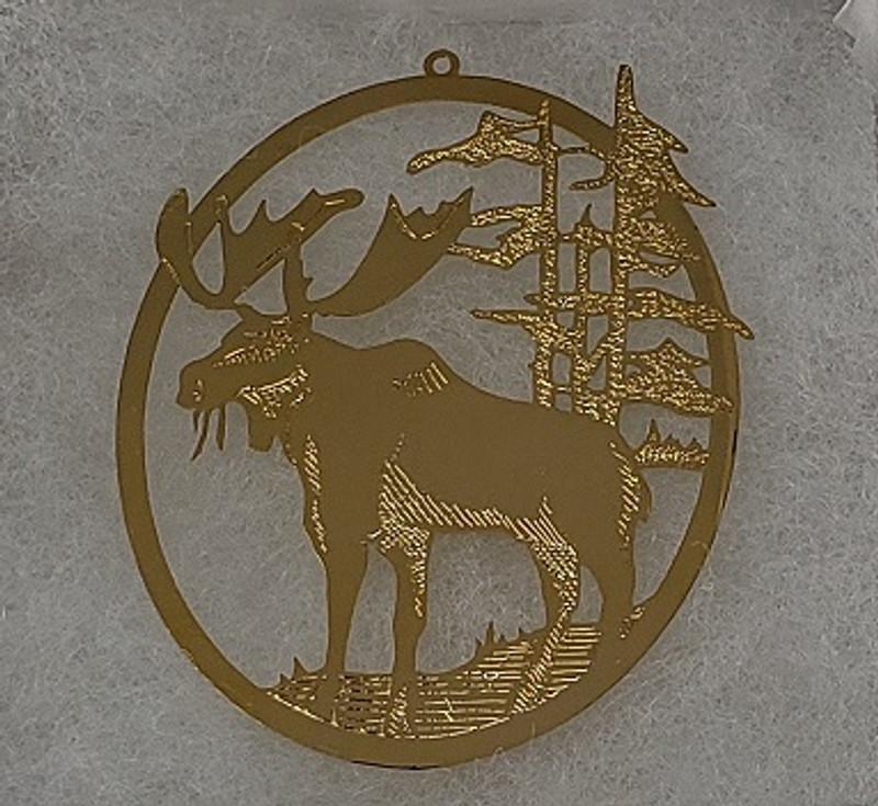 Gold Moose Ornament