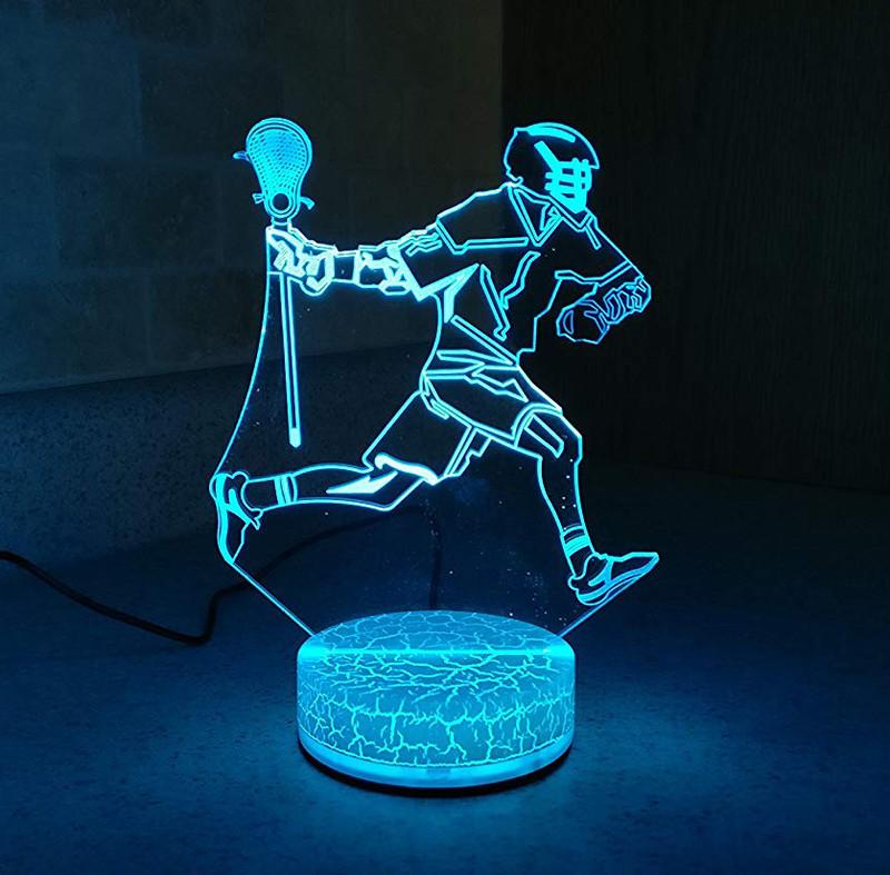 Lacrosse Player Night Light