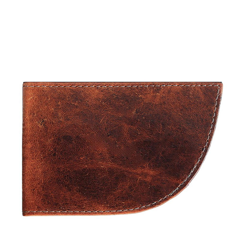 Front Pocket Wallet Nantucket Style - Brown Moose Leather