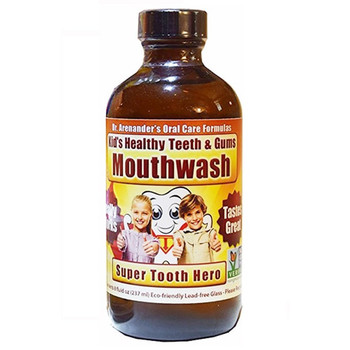 KID'S Healthy Teeth and Gums MOUTHWASH, Organic - Helps Prevent Cavities and Remove Plaque