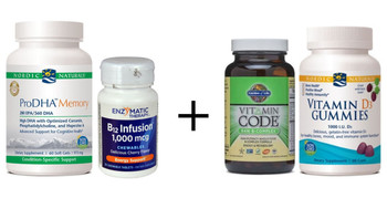 BASIC Brain Kit - Supplements to Improve Brain Health and Memory, Omega-3s