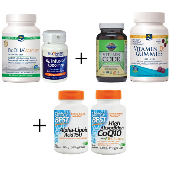ESSENTIALS PLUS Brain Kit - Supplements to Improve Brain Health & Boost Memory