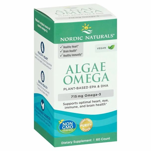 Algae Omega Nordic Natural certified vegetarian/vegan Daily supply of DHA/EPA