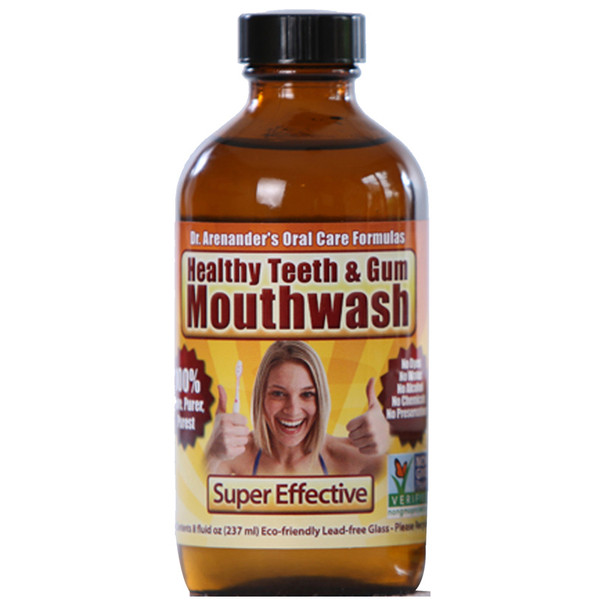 Gum Disease - Gum Recession - Help is Here! Organic Healthy MOUTHWASH - Flouride Free, Non-Toxic, Helps Prevent Cavities, Remove Plaque, Gum Disease