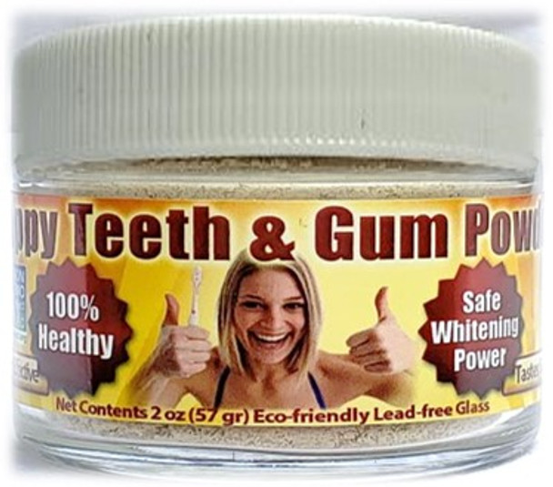 Gum Disease - Gum Recession - Help is Here! Natural, Organic HAPPY TOOTH POWDER Helps Prevent Cavities & Remove Plaque  - Free USA Shipping