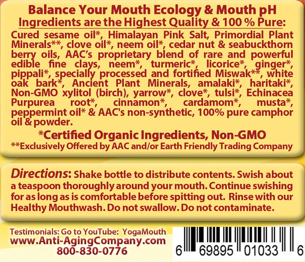 Gum Disease - Gum Recession - Help is Here! For Teeth and Gums - Organic DETOX & Oil Pulling - Free USA Shipping