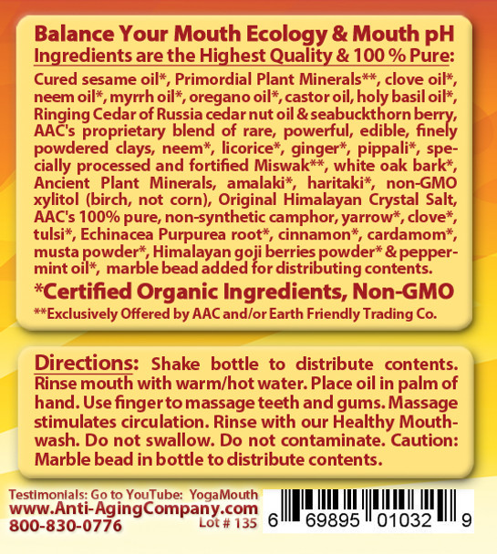 Gum Disease - Gum Recession - Help is Here! - For Teeth and Gums - Organic OIL MASSAGE - Free USA Shipping