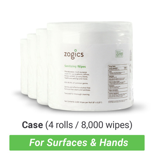 Sanitizing Wipes (4 rolls/case)