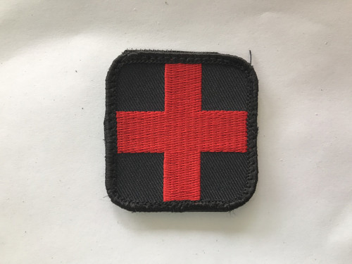 BLISS Medical Cross Velcro Hook Patch Front