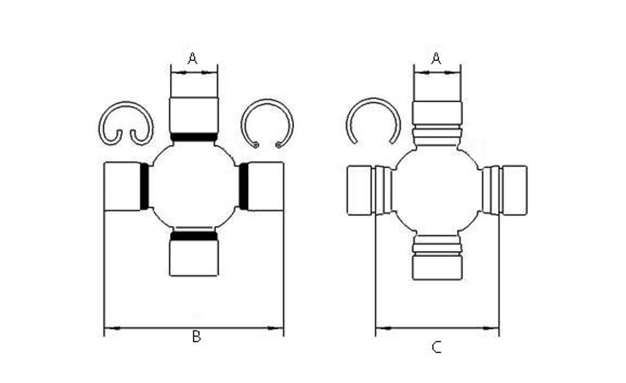 Cross /& Bearing Weasler Kit 200-1200