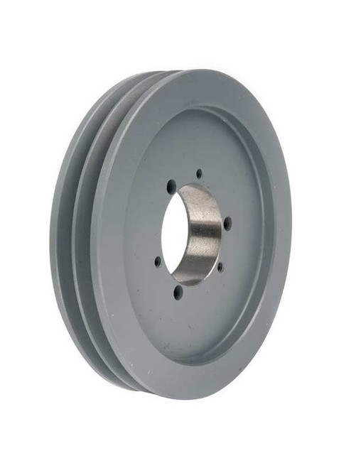 2B160SK A/B Combination Sheave 16.35 O.D., 2 Groove, SK Bushed for 4L , 5L , A , AX , B , and BX belts