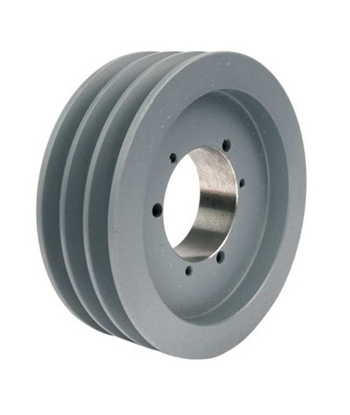 3B36SH A/B Combination Sheave 3.95 O.D., 3 Groove, SH Bushed for 4L , 5L , A , AX , B , and BX belts