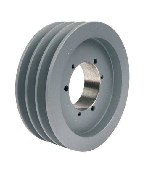 3B66SD A/B Combination Sheave 6.95 O.D., 3 Groove, SD Bushed for 4L , 5L , A , AX , B , and BX belts