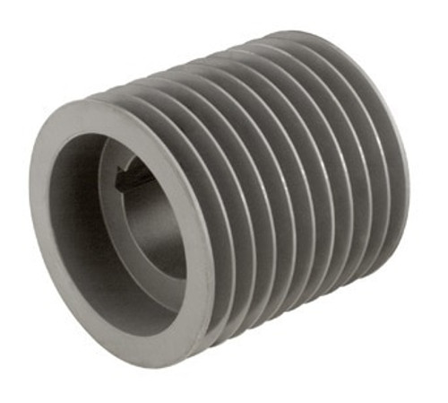 10B250F A/B Combination Sheave 25.35 O.D., 10 Groove, F Bushed for 4L , 5L , A , AX , B , and BX belts BUSHINGS are SOLD SEPARATELY