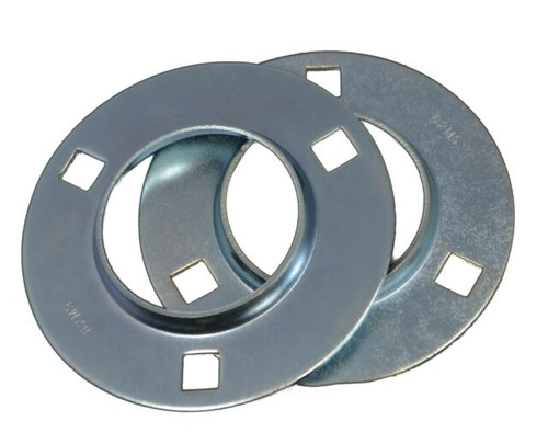 52MS Three Bolt Round Stamped Housing for 52mm OD Bearings