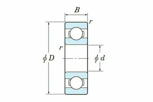 6204 2RD-3/4 Double Seal 3/4 X 47 X 14