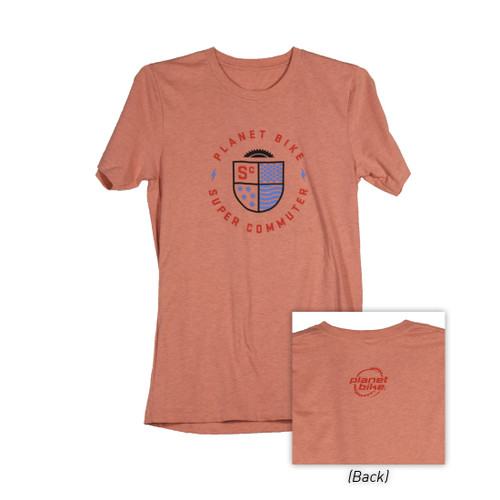 Planet Bike Super Commuter T-Shirt (Coral)