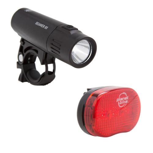 Beamer 80 and Blinky 3 bike light set