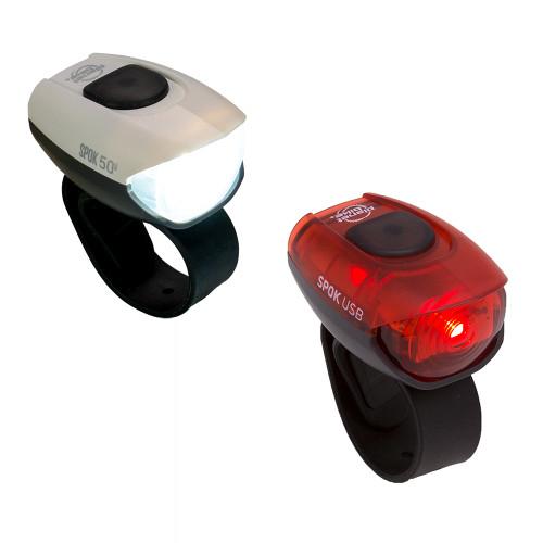 Spok 50 USB bike light set