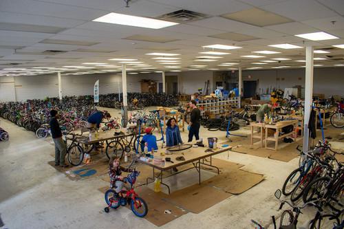 Planet Bike Volunteers at Free Bikes 4 Kidz Madison