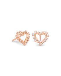 Ari Heart Crystal Stud Earring