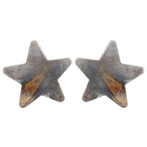 Lana Star Studs Burnished