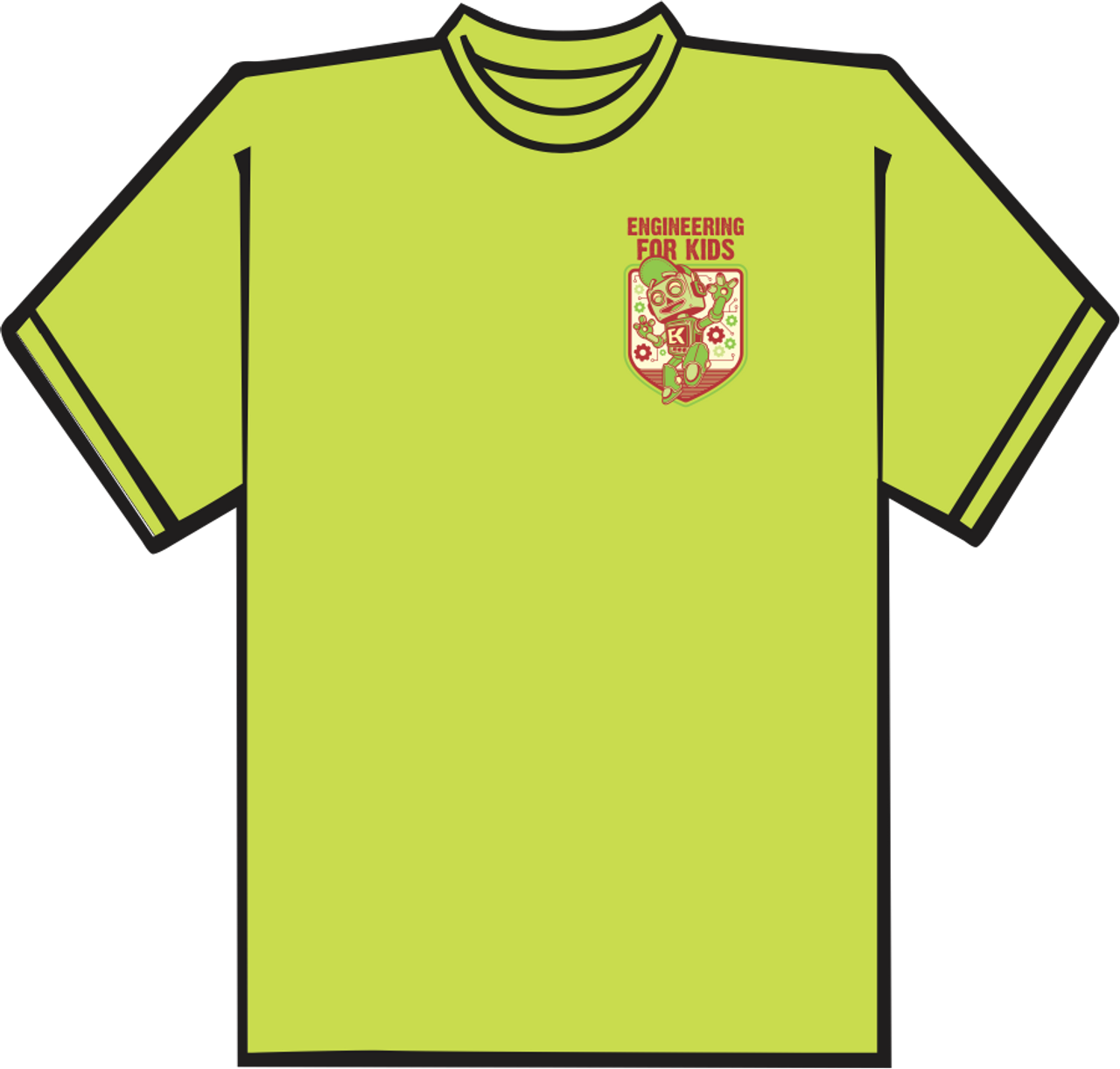 9e175a6f5a0 Lime Green T-shirt with Left Chest Logo. CLOSEOUT!