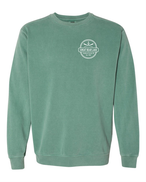 Great Bear Lake Comfort Colors Sweatshirt Light Green
