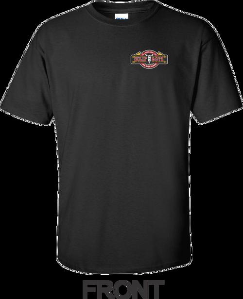 Front of Short Sleeve Black T-shirt.
