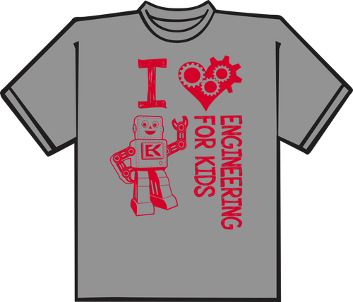 Sport Grey T shirt with Red printing.