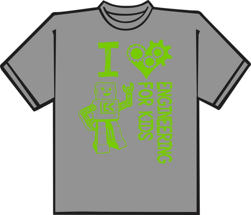 Sport Grey T shirt with Lime printing.