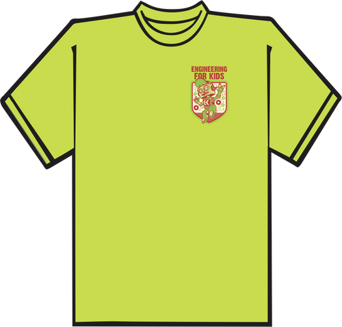 Lime Green T-shirt with Left Chest Logo.  CLOSEOUT!!