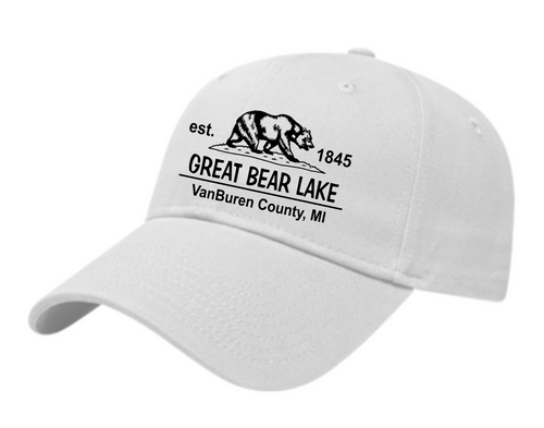 White Ultimate Classic Cap Front Logo