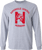 Sport Grey Long Sleeve T-shirt with red printed logo.