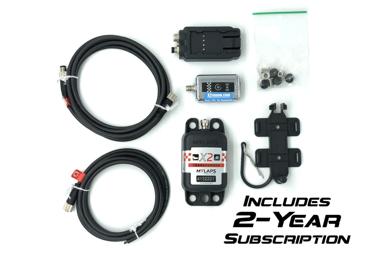 MyLaps X2 Direct Power Transponder (Car/Motorcycle), 2-year subscription