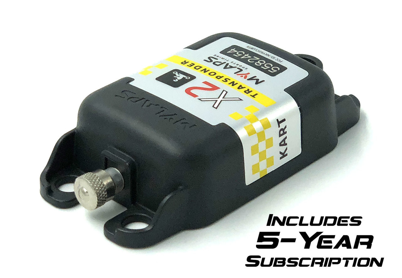 MyLaps X2 Direct Power Transponder (Karting), 5-year subscription