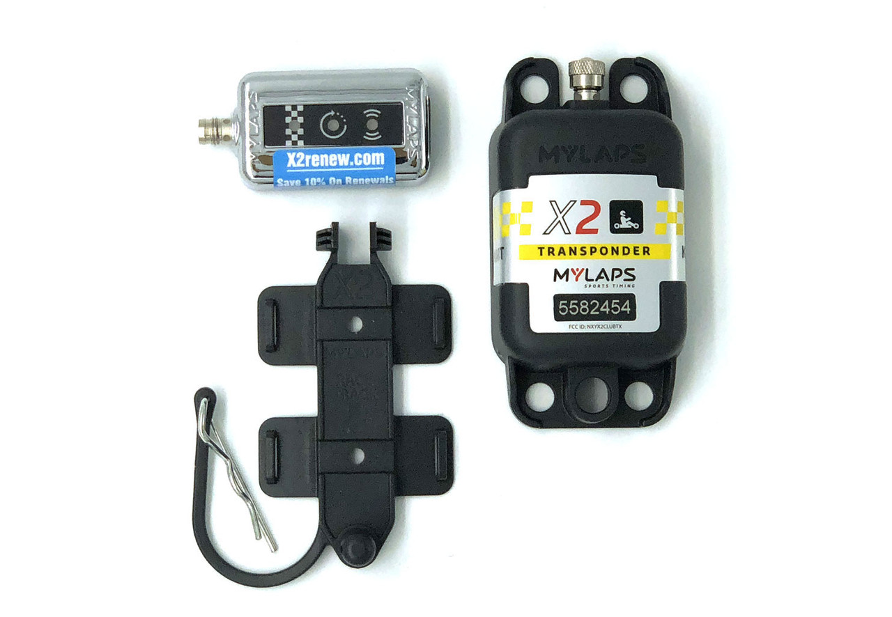 MyLaps X2 Rechargeable Transponder (Karting), 2-year subscription