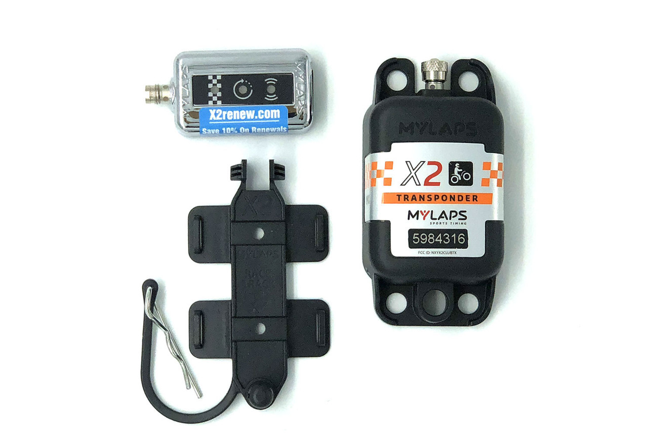 MyLaps X2 Rechargeable Transponder (Motocross/MX), 1-year subscription