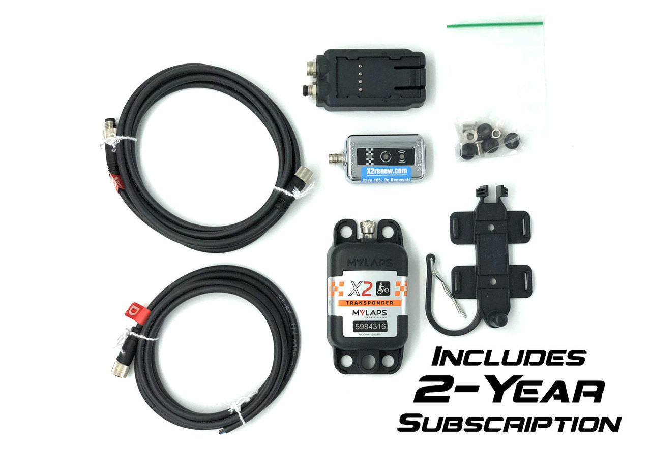 MyLaps X2 Direct Power Transponder (Motocross/MX), 2-year subscription